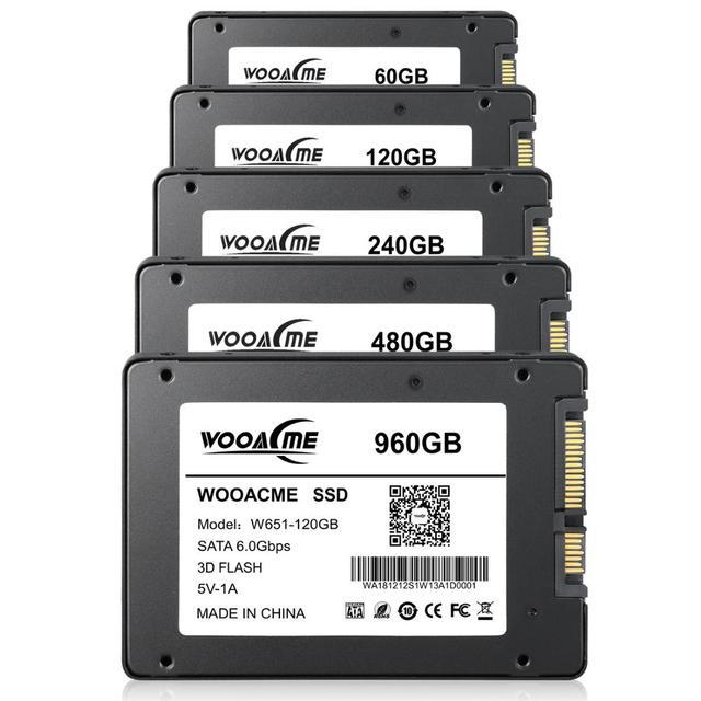 SSD накопитель Wooacme W651, 120 ГБ, 240 ГБ, 480 ГБ, 2,5 дюйма, SATA III, Внутренний твердотельный накопитель для ноутбука, ПК