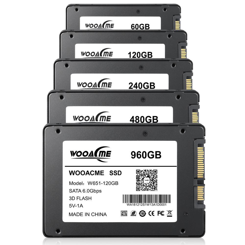 Wooacme W651 SSD 120GB 240GB 480GB 2.5 Inch SATA III SSD Notebook PC Internal Solid State Drive