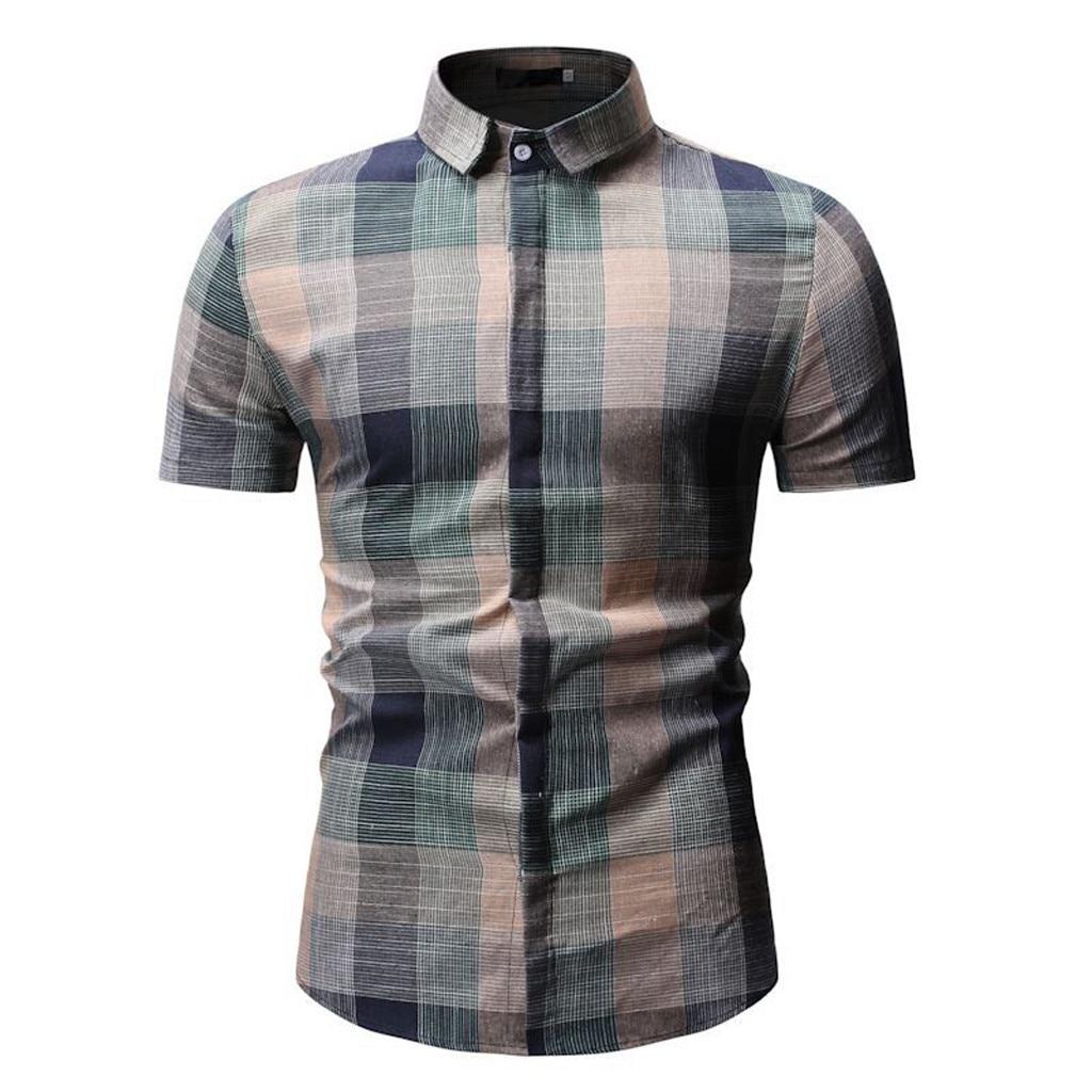 Мужская летняя рубашка Mar8, с коротким рукавом и принтом, 2019