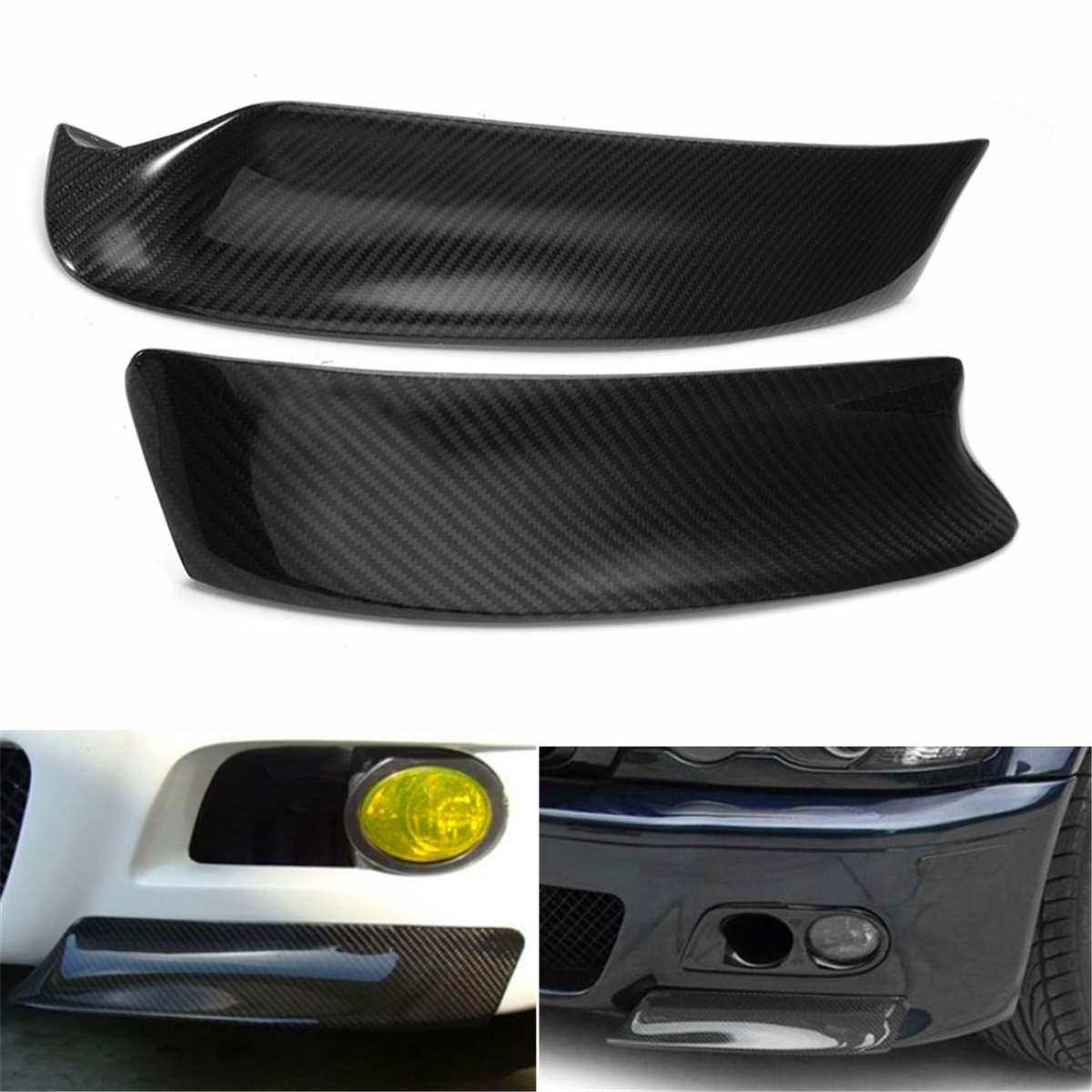 1 paire Racing fibre de carbone Style pare-chocs avant lèvre diffuseur diviseurs Canard séparateur d'air couverture garniture pour BMW E46 M3 1999-2006
