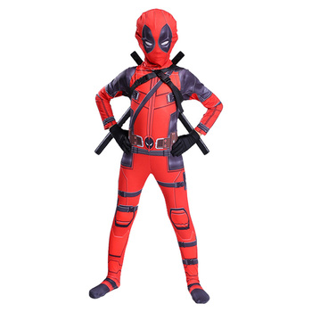 цена Kids Deadpool Costume Cosplay Deadpool Cosplay Costumes Children Deadpool Halloween Carnival Costume For Kids Boys Party Suit онлайн в 2017 году