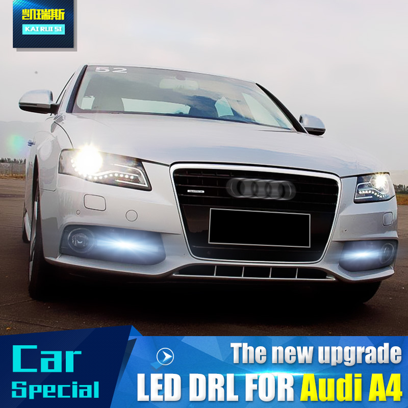 2x DRL Dalight Running Ligts-Front LED Lamp fit Audi A3 A4