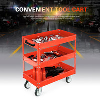 3 Tier Shelf Heavy Workshop Garage DIY Tool Storage Trolley Wheel Cart Tray Capacity for Holding Heavy Equipment 200kg Load