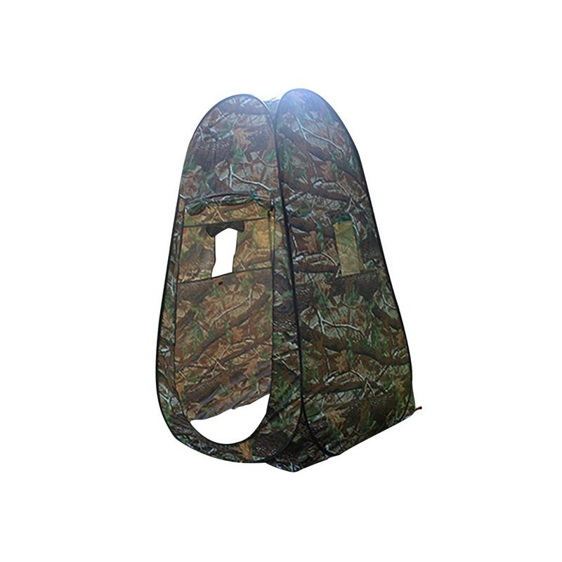 Outdoor Pop Up Camouflage Tent Camping Shower Bathroom Privacy Toilet Changing Room Shelter Single Moving Folding