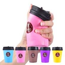 Новая мягкая медленно растущая кофейная чашка Squishe антистресс Jumbo Squisy шалость игрушки для снятия стресса анти-для веселья, против стресса сжимаются многоцветные