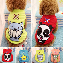 Spring Summer Dog Vest Cotton Cartoon Printing Puppy Tee Shirts Pet Clothes XS-2XL WXV Sale
