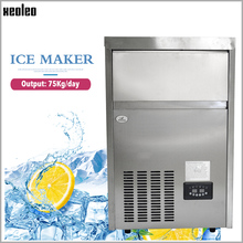 XEOLEO Square Ice maker 65&75KG/24h Commerical Ice machine Air-cool Cube Ice make machine Stainless steel R22/R404 520W цена