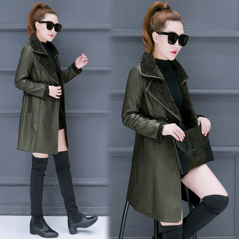 New 2018 Winter Women Faux Lambs Wool Coat Faux   Suede     Leather   Jackets Thick Warm Shearling Coats