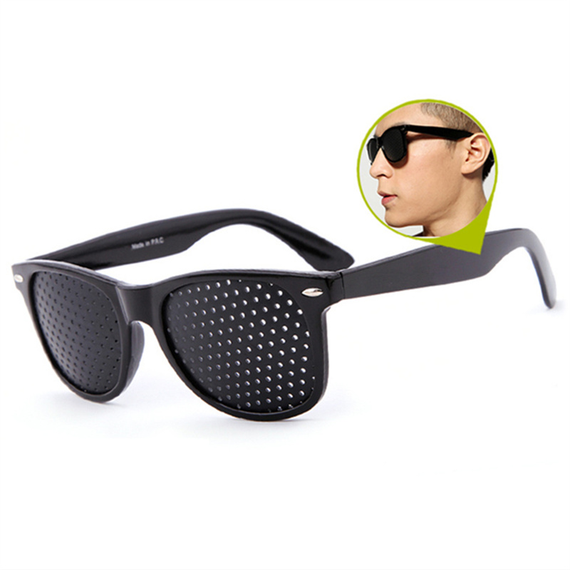 Pinhole Glasses Men Anti Myopia Vision Spectacles Eyesight