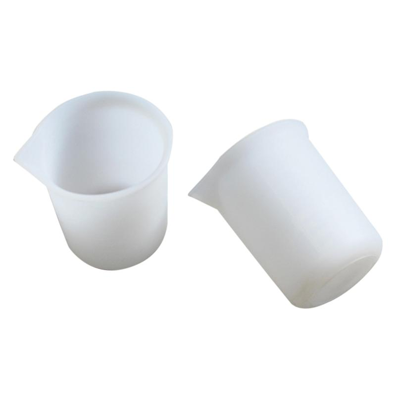 2pcs 100ml Durable High Quality Silicone Measuring Graduation Liquid Container Beakers For School Experiment Baking