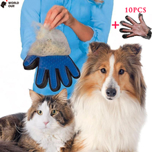 Worldour Gloves For Cats Pet Deshedding Hair Remove Cat Grooming Brush Five Finger Products Massage Mitten Bathing Dog Comb