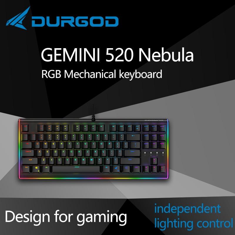 Durgod 87 Gemini 520 Nebula Rgb Mechanical Lighting Keyboard Cherry Mx Pbt Doubleshot Brown Blue Black Silent Red Silver