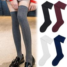 e934779c4c7 Sexy 2019 Warm Long Stocking Fashion Female Long Knee Socks Women Cotton Thigh  High Over The