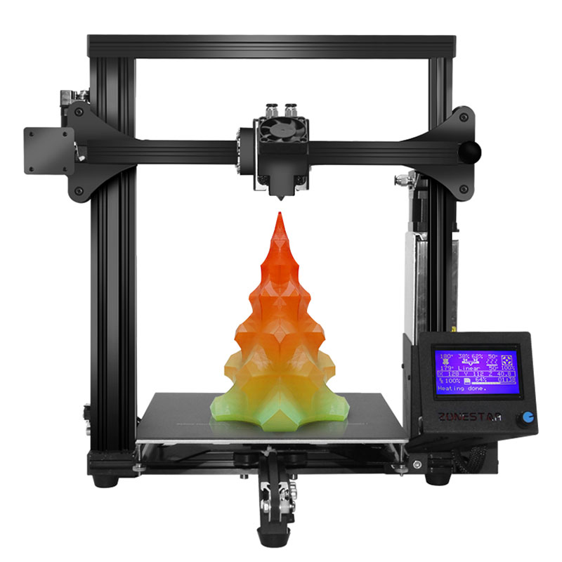 Zonestar Z5M2 imprimante 3D couleur mixte 60 pour cent pré-assemblé 2 en 1 écran LCD 220x220x230 MM kit d'imprimante 3d