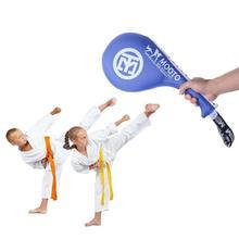 Taekwondo Foot Target Double Kick Pad Durable Foot Target Boxing Sanda Training Hand Kick Pad Punching Bag For Adult Kids цена в Москве и Питере