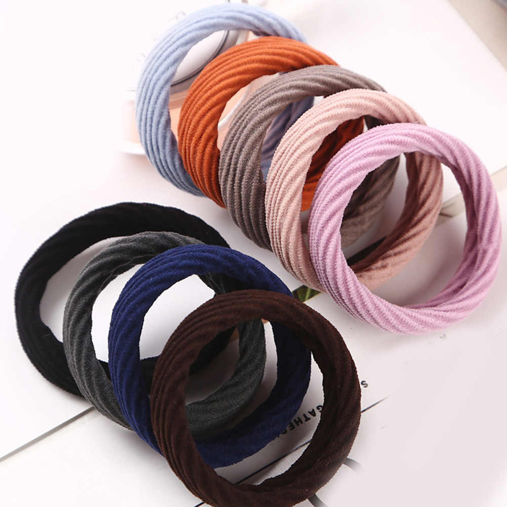 Fashion Hair Scrunchies New High Resilience Seamless Rubber Band Hair Accessories Girls Women Ponytail Elastic Hair Bands