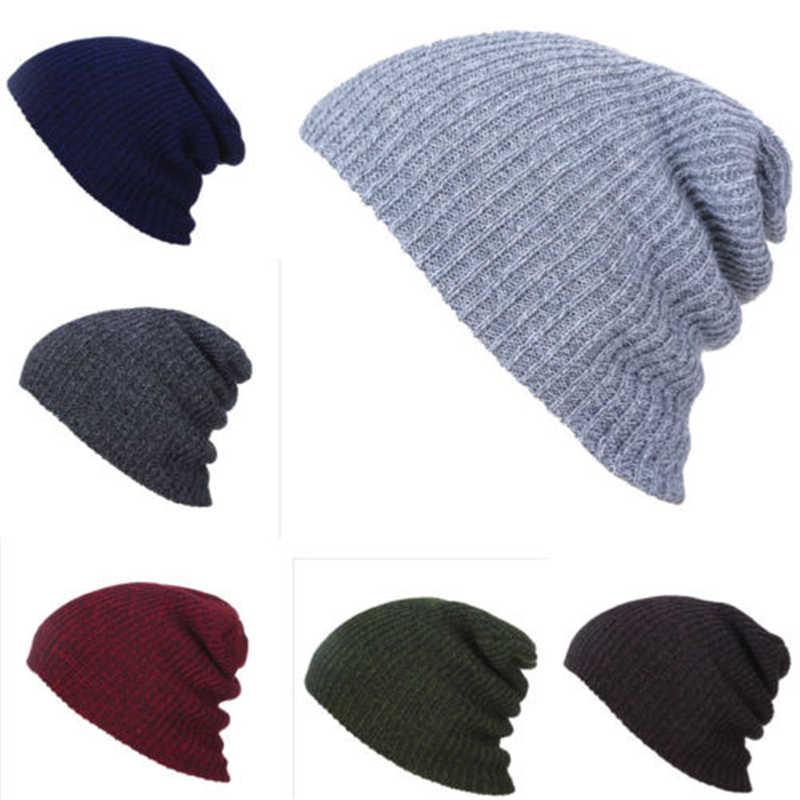 7c3af7c30928f Women s Men Knitted Baggy Beanie Winter Warm Hat Ski Causal Knit Cap  Fashion Hat Knited Wool