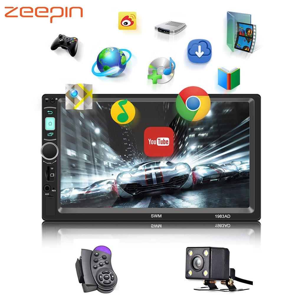 7inch HD Car MP5 Player WiFi Mirror Link Android IOS Bluetooth Stereo Audio FM Radio GPS Navigation AUX USB TF Multimedia Player
