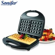 Электрический вафельница электрическая сэндвич Утюг машина пузырь яйцо торт печь аппарат для приготовления завтрака Sonifer быстро вкусной безопасности