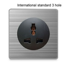 International standard 3 hole socket France UK Germany US Socket 86 type 1 2 4 Gang Way light switch household