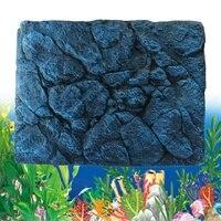 3D Foam Rock Reptile Stone Aquarium Background Backdrop Fish Tank Board Decor Underwater Aquarium Landscape Decoration 60x45cm