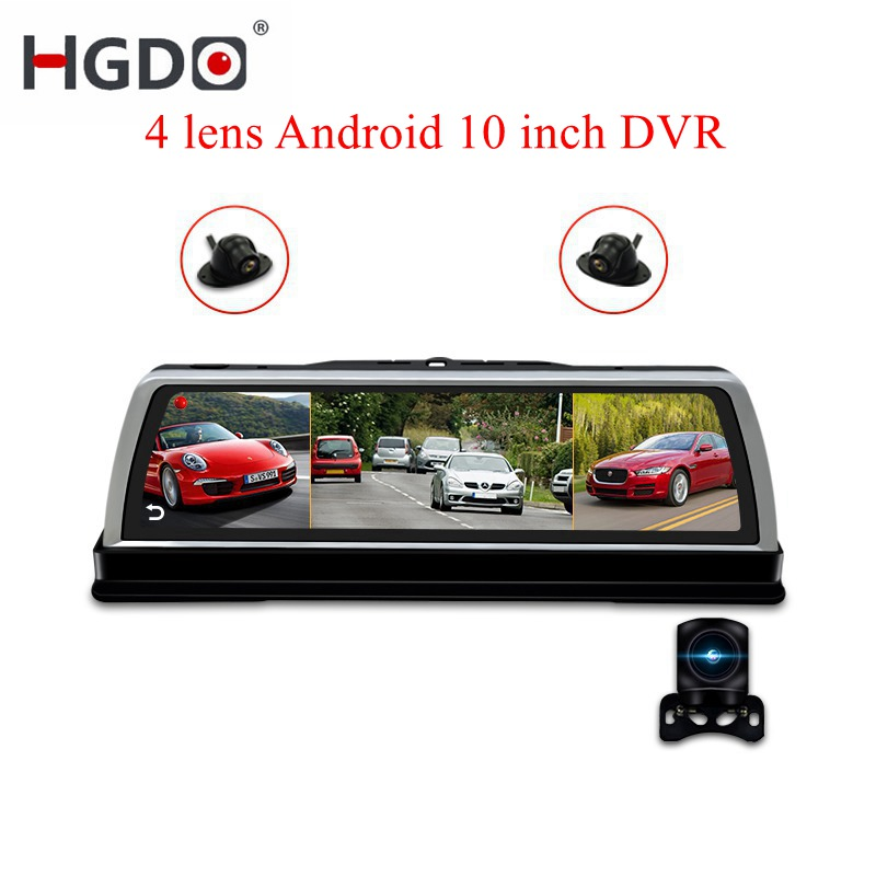 HGDO Vehicle Camera Car-Dvr Video-Recorder Navigation Dash-Cam Wifi Android 10inch Full-Hd