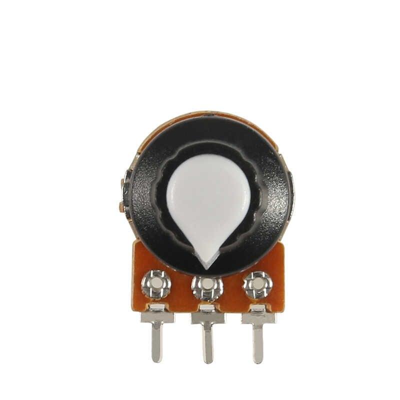 Potentiomètre bouton 10 k 1 k 100 k 5 k 50 k Ohm Wh148 3pin 15mm arbre avec écrou 3 borne linéaire conique rotatif B10k pour Arduino kit de bricolage