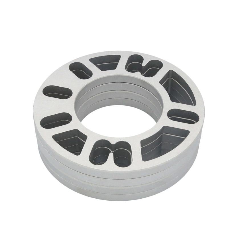 2 PCS אוניברסלי סגסוגת אלומיניום 3mm 5mm 8mm 10mm גלגל Spacer Shims צלחת 4 5 הרבעה עבור 4x100 4x114.3 5x100 5x108 5x114.3 5x120