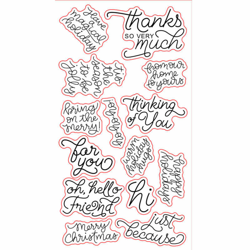 Christmas Sentiments For Cards.Merry Christmas Sentiments Sayings Phrase Rubber Clear Stamp Seal Scrapbook Photo Album Decorative Card Making Clear Stamps