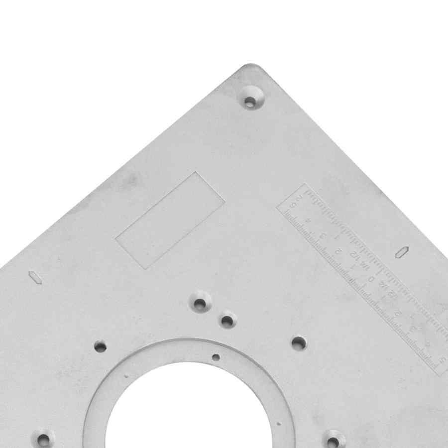1 Set Aluminium Router Tafel Insert Plaat met Ringen en Schroeven voor Houtbewerking voor DIY Craft Mold Vaste Reparatie