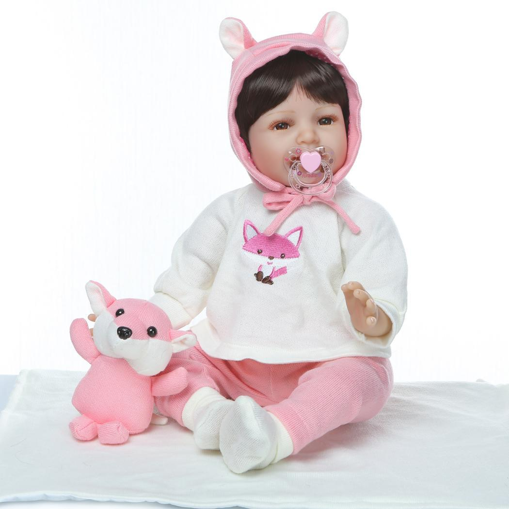 Kids Soft Silicone Realistic With Clothes Reborn Baby Opened Eyes 2-4Years Doll Collectibles, Gift, PlaymateKids Soft Silicone Realistic With Clothes Reborn Baby Opened Eyes 2-4Years Doll Collectibles, Gift, Playmate