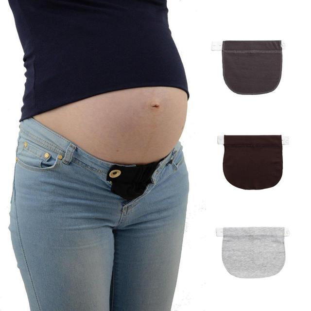 f9ec47a986508 1 Piece Skirt Trousers Jeans Waist Expander Waistband Pregnant Woman Plant  Belt Elastic Bands Extender Buckle