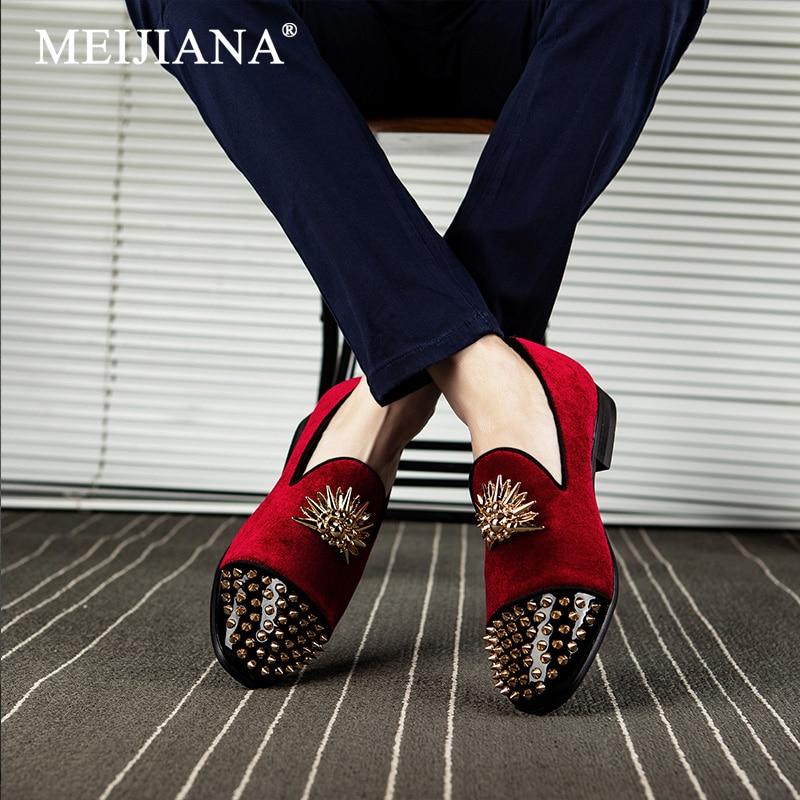 Luxo De Outono Novos Sapatos Escuro Homens 2019 cáqui Moda vermelho E Claro Casuais Vinho Mocassins Meijiana azul Primavera Dos Preto vermelho azul Macio Luz Respirável Aumentou 06ZXwnx