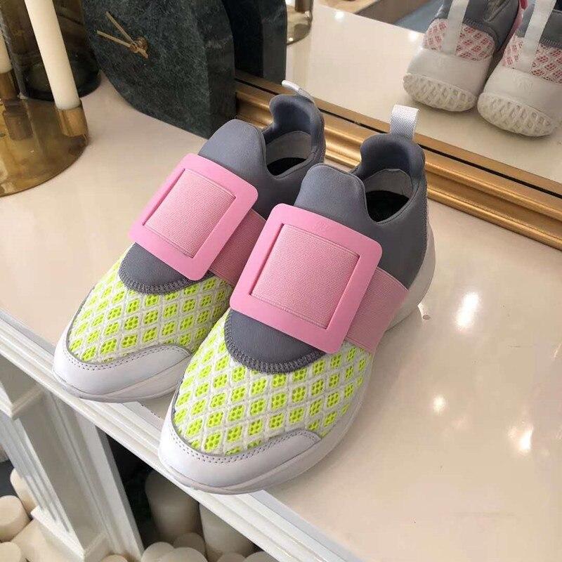 Marque Design baskets femmes en cuir véritable automne 2019 décontracté plate-forme baskets sans lacet chaussures plates femme