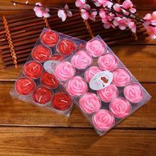 12 шт./компл. мигает ароматерапия бездымного ко Дню Святого Валентина Нежный в штучной упаковке роза романтический брак свечи украшения
