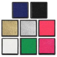 Colorful 4cm Ink Pad Stamp for Scrapbooking Inkpad Sealing Decoration Fingerprint Stencil Card Making DIY Stamp Crafts(China)