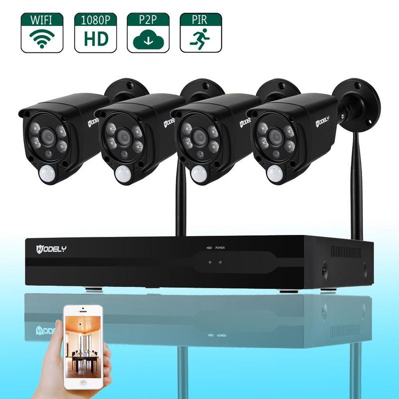 Caméra de sécurité à domicile 8 canaux 1080 P TVL 2 infrarouge/2 lumière blanche alarme caméra soutien WiFi Vision nocturne P2P télécommande