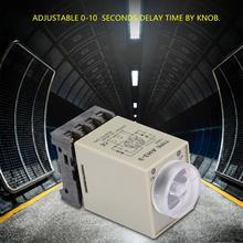 цена 0-10 Seconds Delay Timer Relay Knob Control Timer Relay Delay ON Time Relay with Base AC 110V онлайн в 2017 году
