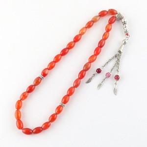 Image 4 - Natural Stone Agate Round Shape 33 prayer Beads rosary Islamic Muslim tasbih Allah masbaha Misbaha tesbih Sibha subha tespeeh