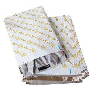 Image 3 - Speedy Mailers bolsas de plástico para sobres, autosellantes, con patrón de flechas doradas, 10x13 pulgadas, 26x33cm, 100 Uds.