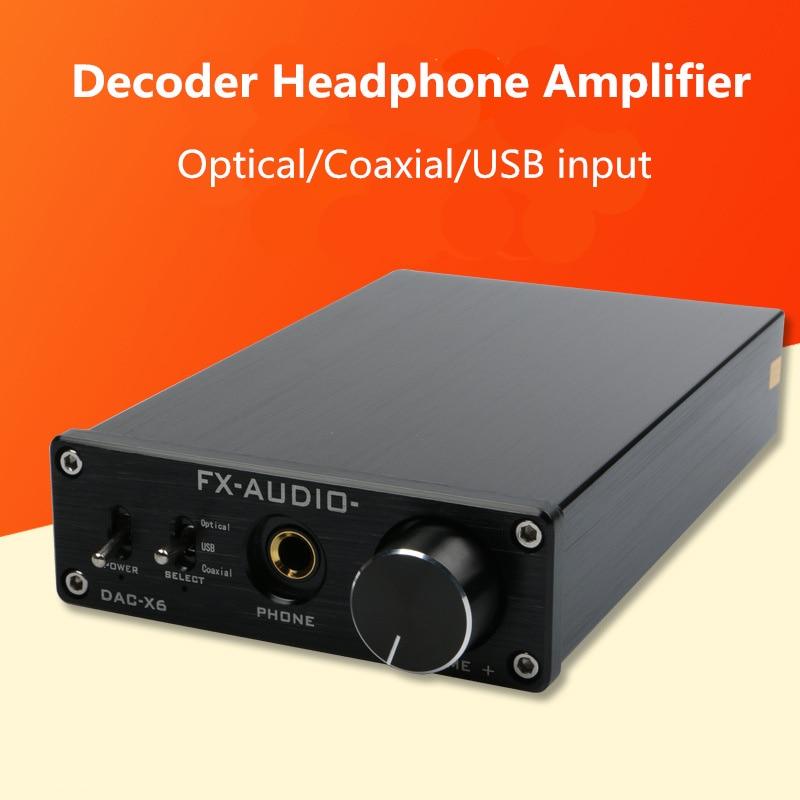 FX-Audio DAC X6 Fever HiFi Optical Coaxial USB Amplifier Digital Audio Frequency DAC Decoder Headphone AMP 24BIT/192 DC12V 1AFX-Audio DAC X6 Fever HiFi Optical Coaxial USB Amplifier Digital Audio Frequency DAC Decoder Headphone AMP 24BIT/192 DC12V 1A