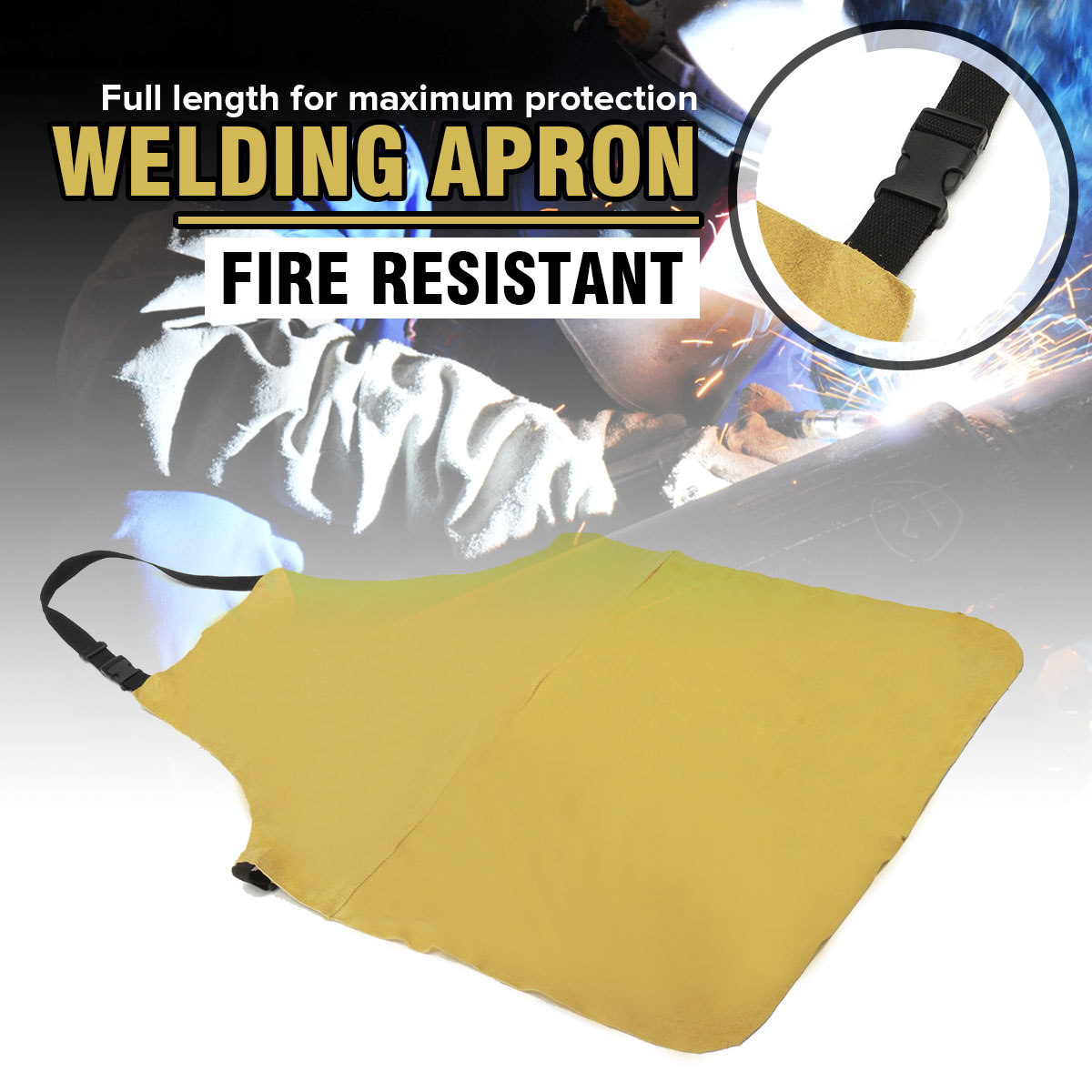 Welding Apron Welders Dual Leather Welding Cutting Bib Shop Apron Heat Resistant Workplace Safety Safety Clothing Self ProtectWelding Apron Welders Dual Leather Welding Cutting Bib Shop Apron Heat Resistant Workplace Safety Safety Clothing Self Protect