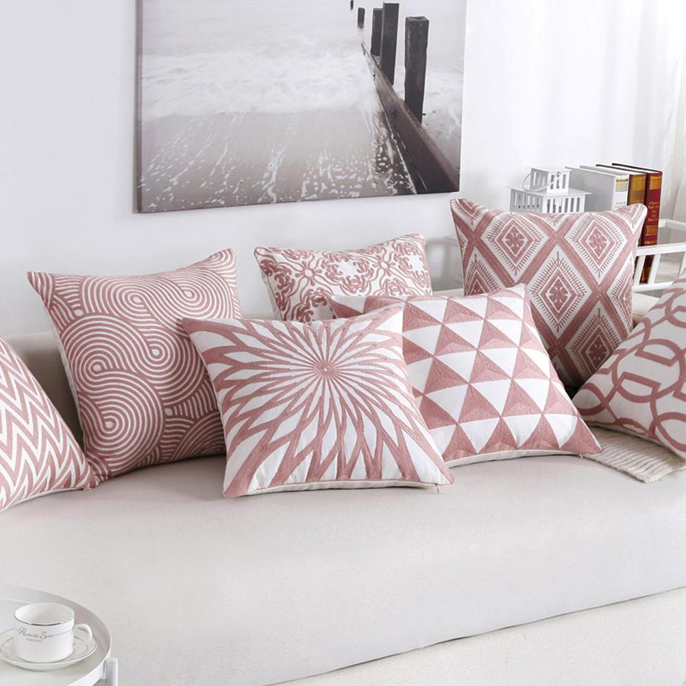 Pink Cushion Cover Home Office Sofa Square Decorative Cushion Covers