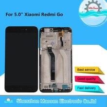 "Xiaomi Redmi 용 기존 5.0 ""M & Sen 1280*720 Redmi Go 디스플레이 용 프레임 + 터치 스크린 패널 디지타이저가있는 LCD 디스플레이 화면 이동"