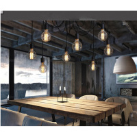 E27 8Arms Antique Classic Ajustable DIY Ceiling Spider Lamp Light Retro Chandelier Pendant Dining Hall Bedroom