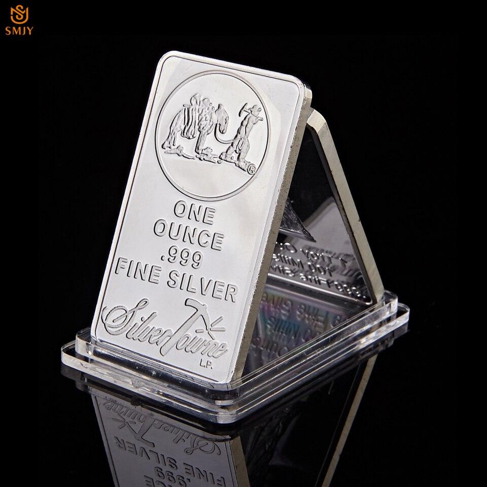 1 OZ 999 Fine Silver Bullion Bar American Prospector US Union Metal Coin Collectible Value