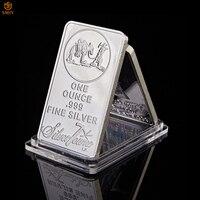 Eua moeda comemorativa 1 oz 999 prata fina barra de lingotes americano prospector us union metal moeda valor colecionável
