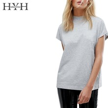 HYH HAOYIHUI  New Women Summer Simple Commuter Round Neck Loose Sports Casual T-shirt