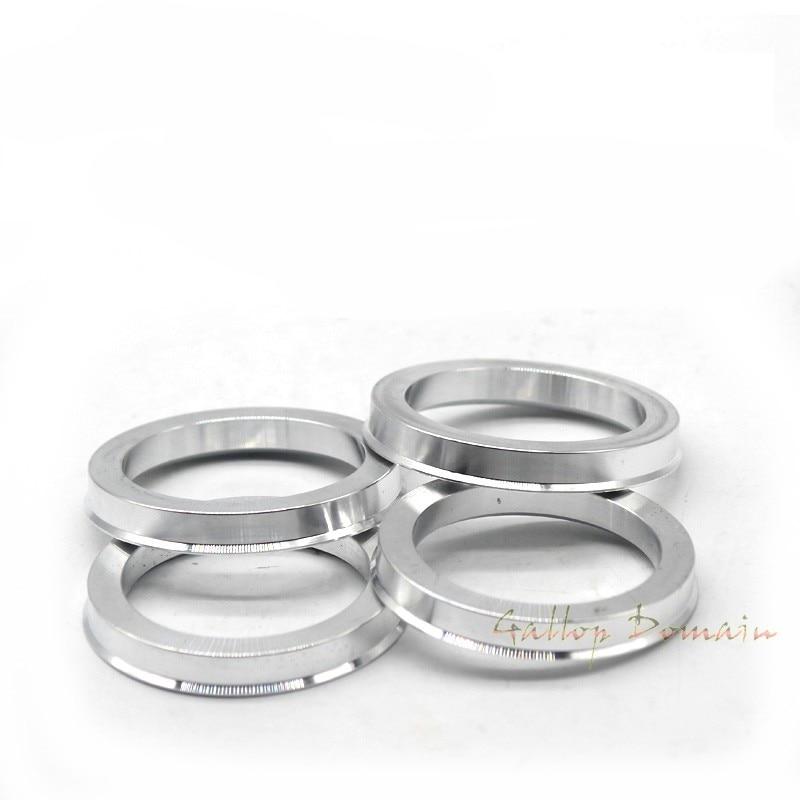 4 Uds de aluminio del coche Hub anillos Centro anillos céntricos de la rueda de 73,1-57,1, 66,6-57,1, 73,1-60,1, 67,1-73,1, 67,1-60,1, 63,1-64,1, 73,1-56,1mm