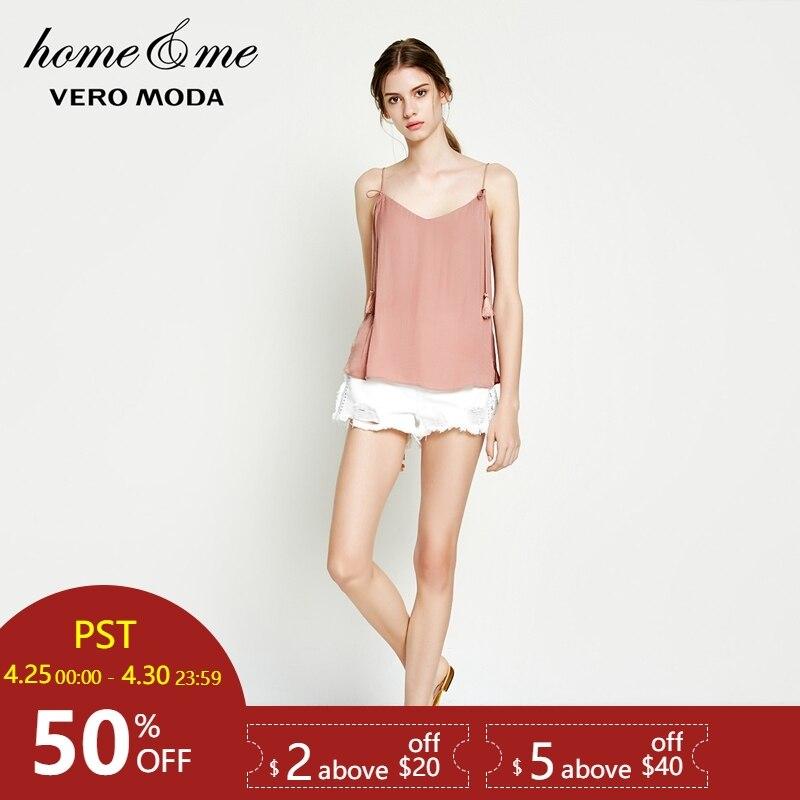 Trendmarkierung Vero Moda Frauen Fransen Borte Spitze-up Camis Pyjamas Top Damen-nachtwäsche Schlaf-oberteile 31826y501